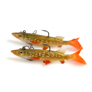 New Yellow white spot Realistic fish Alice mouth Shad Soft baitfish 9.5cm 14g Rubber Freshwater injured T-Tail fishing lure