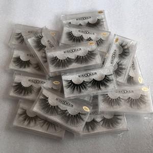 NOVA Mink Cílios Postiços 5D Cílios Vison 25mm Natural Longo 100% Real Mink Cílios Alta Volume Fofo Ferramenta de Cílios Maquiagem