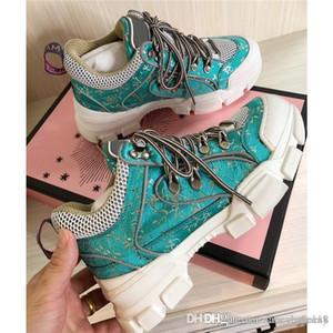 Damas caen zapatillas de deporte de invierno retro zapatos zapatos de papá fresco parpadeo de flash de color de contraste alpinismo de los colores, juego completo de caja de zapatos