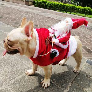 애완 동물 개 크리스마스 의류 산타 클로스를 타고 디어 개 변모 크리스마스 장식 개 의류 XD22641 공급