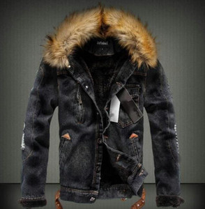 망에 의하여 세척되는 겨울 진 재킷 가을 두꺼운 남자 디자이너 외투 긴 소매 단 하나 브레스트 재킷