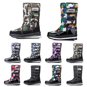 bottes femmes designer de luxe Hommes sur le genou Cuisse bottes d'hiver de neige en haute hommes Bottillons imperméables à l'eau plate-forme 36-45 de style Drop Shipping 19
