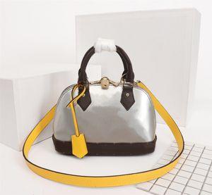 Designer original de haute qualité de luxe Sacs à main Sacs à main ALMA BB Sac Femmes Marque fourre-tout Toron cuir verni sac Shell Sacs à bandoulière en cuir véritable