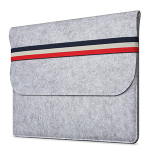 Macbook Air Woolfelt Capa protetora Capa para MacBook Air Pro Retina Manga de laptop Sacos para Mac 11.6 13.3 polegadas Capas para laptop