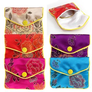 Wholesale Jewelry Storage Bags Silk Chinese Tradition Pouch Purse Gifts Jewels Organizer