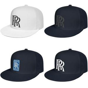 Rolls Royce Logo erkek ve kadın boş Kalça Hopflat brimhats sembol logosu amblem RR LOGO sıkıntılı mavi ADAG soğutmak beysbol kasketi geri çarparlar