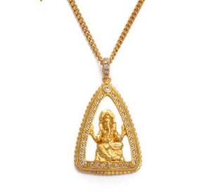 Hinduizm Hint Dini Ganesha kolye Salkım Kadınlar Kızlar Altın Renk Taşlı Fil Salkım # 070304