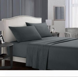 4 Piece Queen King Size Bed Sheets Set Soft Comfortable Flat Sheet Fitted Sheet Pillowcase Set Back to School Twin Full Queen King Size