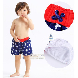 Boys Board Shorts Elastic Waistband Kids Bottom Bathing Kids Beachwear Boy Shorts Stars Toddler Summer Beach Swimwear Swimming Pants D704