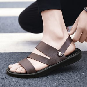UYOYU Hot Sale New Fashion Summer Leisure Beach Men Shoes High Quality Leather Sandals The Big Yards Men Sandals Size 38-48 lll