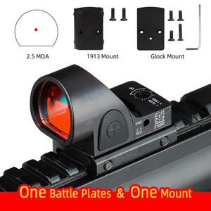 SRO Mini RMR Red Dot Sight 2,5 моа оптический Reflex Sight Scope коллиматорный припадки 20мм Weaver Rail Охотничья винтовка Airsoft CL2-0130