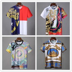 Mens luxury t shirt fear of god Fashion Skulls T-Shirt Casual Slim Short Sleeve T-Shirts Summer Medusa Tops Design Brand Cool T Shirt