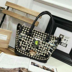 Lucky2019 diamante de couro genuíno ombro Cobra pacote única mulher Messenger Bag