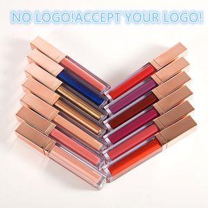 Hayır LOGO! 19 Renkler Mat Sıvı Ruj Su Geçirmez Uzun Ömürlü Pırıltılı Sıvı Dudak Parlatıcısı Logo Yazdırınızı Kabul Et