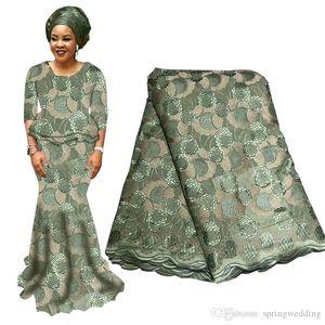 Alta Qualidade Africano nigeriano Lace Fabric Para Wedding 2020 tela do laço nupcial Laces Tecido Azul Roxo Francês suíça com Beads BF0027