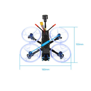 HGLRC Sector132 3-4s FPV corsa Drone BNF CADDX Tarsier 4K F4 Zeus AIO Flight Control 15A 4in1 CES 1106 Motor Elica Protecti
