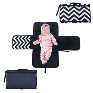 Diaper Bags Portable Maternity Mummy Bag Baby Nappy Changing Mat Waterproof Diaper Clutch Travel Table Changing Station Kit 4 Colors DHW2450