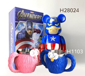 Bearbrick Building Bear Dust Cover 100% Scale Display Board Display Box Violent Bear KAWS Cup