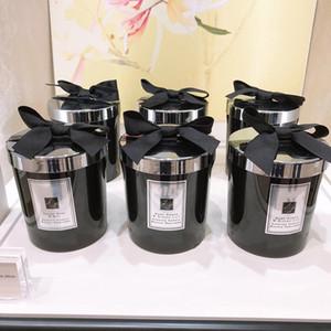 Крытая ароматическая свеча 200 г Черная бутылка черное дерево английская груша синий ветер колокол морская соль лайм листья базилика бесплатная быстрая доставка
