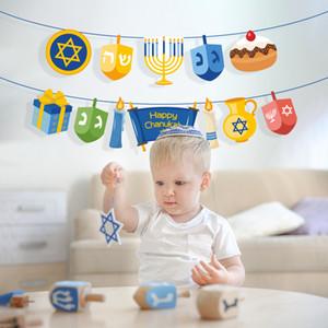 Mutlu Hanuka Parti Süsleri Duvar Asma Bunting Afişler Hanuka Parti Hanuka Parti Malzemeleri cny1818 Yana