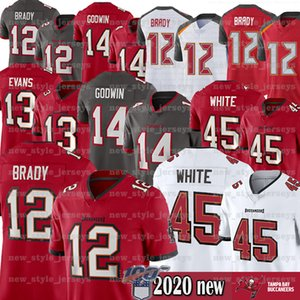 12 Tom Brady ;Jeresey 13 Mike Evans New 14 Chris Godwin women TampaBayBuccaneersnfl 45 Devin White youth Football Jerseys