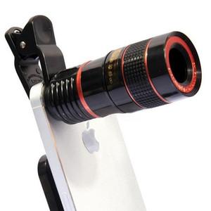 La tienda en línea del teléfono móvil 12X lente de la cámara externa universal Clip kit del teléfono celular Telescopio HD lente telefoto externa teleobjetivo zoom óptico