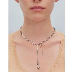 Timeless Wonder Pave Geo Chained Hanging Ball Choker Necklace Women Jewelry Punk Gothic Trendy Top Ins French Hip Hop Rock 7335
