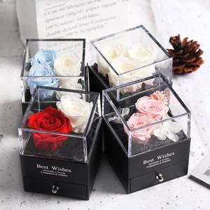 Konservierte In Glaskuppel Ewige Rose Dekoration Red Ecuador Geschenkbox Kann Ring Valentinstag Geschenk Geburtstags-Geschenke für Frauen Put