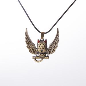 Anime Fairy Tail collana della lega del gatto con le ali collane del pendente Naz E Lucy Habi Cosplay del pendente del bronzo per le donne Collane