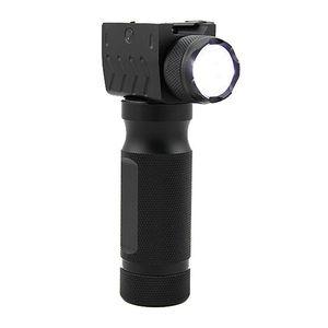 Tactical Flashlight LED bulb Fore Grip Hunting Gun Light fit 20mm Weaver Picatinny Rail