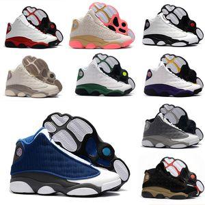 2020 Arrivée Nakeskin récent Jordan 13 jordans nike air Retro 13s Hommes Chaussures de basket-ball de classe 1 aj Barons DMP Blanc Sneakers Designer de luxe