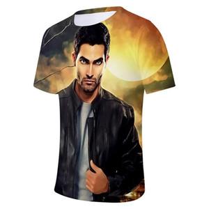 Coppia Abbigliamento Teen Wolf Derekhale Mens 3D Stampa magliette girocollo manica corta moda Homme Tees
