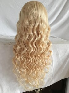Hot Brazilian 613 #Blonde Virgin Hair 100 %Full Lace Wig With Bangs Long Blonde Human Hair Wig Glueless Lace Wig With Baby Hair Good Quality