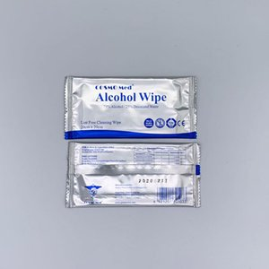 hot 75% Alcohol Wipes Disinfecting Dipe and wipes in independent packaging Wet Wipes 20*20cm homeware T2F5013