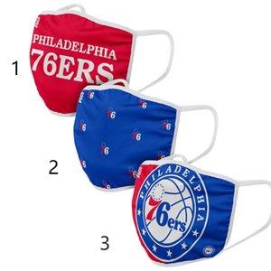Erwachsene Philadelphia76ersMEN WOMEN FOCO Tuch Gesicht Covering 3er-Pack PM 2.5 Filter