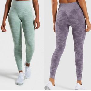 Camo Seamless Energia Vital Leggings cintura alta Sports executando Training calças justas Mulheres ginásio Calças Push Up Pants Yoga L
