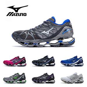 2019 Original MIZUNO WAVE Profecia 7 sapatos profissionais para mulheres dos homens preto cinza prata verde roxo azul Athletic Sports Sneaker Tamanho 36-45