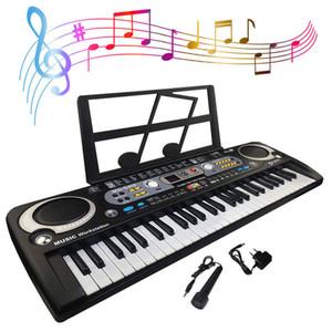 54 Keys Digital Electronic Keyboard & Microphone Electric Led Adult Size Eu Plus