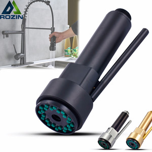Bronze noir Pull Out robinet de cuisine tête de pulvérisation à main d'or tirer vers le bas la tête haute cuisine Spout pression Pulvérisateur Buse