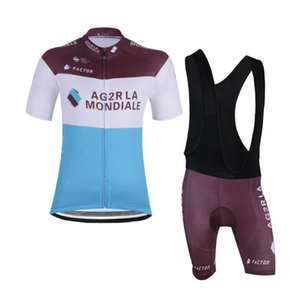 2019 Summer hot sale AG2R Team Cycling Clothing Breathable Racing Bicycle Wear Men Cycling Jersey Suit quick dry road Bike Clothing Y032707