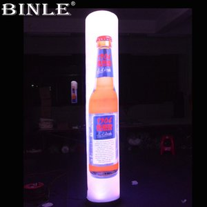 Customized advertising LED inflatable pillar with printings,inflatable column,prism light tower for decoration
