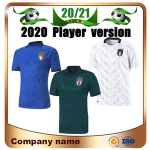 2020 Player version italy third Soccer Jerseys 20/21 Italy Home CHIELLINI CANDREVA Soccer Shirt Away INSIGNE ROMAGNOLI 3rd Football uniform