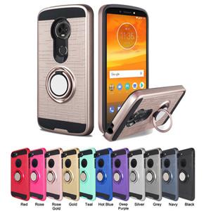 Halka Araç Telefonu Tutucu Kılıf Manyetik Kickstand Kapak Iphone için 8 7 x artı Samsung Galaxy S8 S9 Artı J7 2017 A6 2018 J7 yıldızı 6S