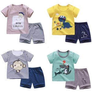 short sleeve T-shirt children's clothing suit Cotton Boys' Baby 2020 T-shirt girls' children's wear