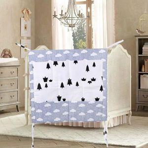 Lit bébé Organisateur Nursery Hanging Sac Crib coton Cartoon multi-fonction nourrisson Porte multi-poches