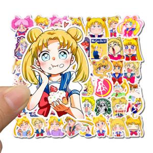 50 PCS Mixed Car Stickers Sailor Moon Anime Cartoon para violão Laptop Skate Pad motocicleta bicicleta PS4 Telefone bagagem Decal pvc Adesivos
