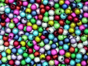 1000pcs Fabrik-Preis Top-Qualität 4 mm Mischfarben-3D-Illusion Miracle Perlen Acryl Spacer Perlen / Perles für Armband Schmuck Geschenk