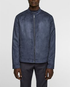 Pelle scamosciata del Faux Mens giacca designer autunno Mens Moda Slim Stand Collar Jacket urbano Mens Designer Coat