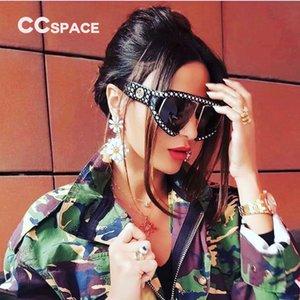 2018 Oversized Pearl Frame Goggle Sunglasses Mujer Shades Lujo 45474 Ccspace Marca Gafas Diseñador Moda Mujer Uv400