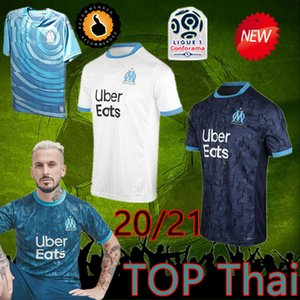 Thailand Maillot OM Olympique de Marseille Soccer jersey 2020 2021 Marseille Maillot de foot BENEDETTO PAYET L GUSTAVO 20 21 THAUVIN shirts